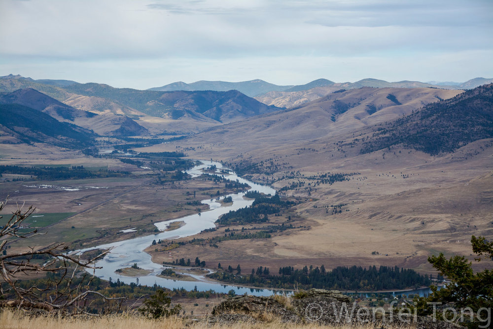 View of the Flathead river from the Bison Range