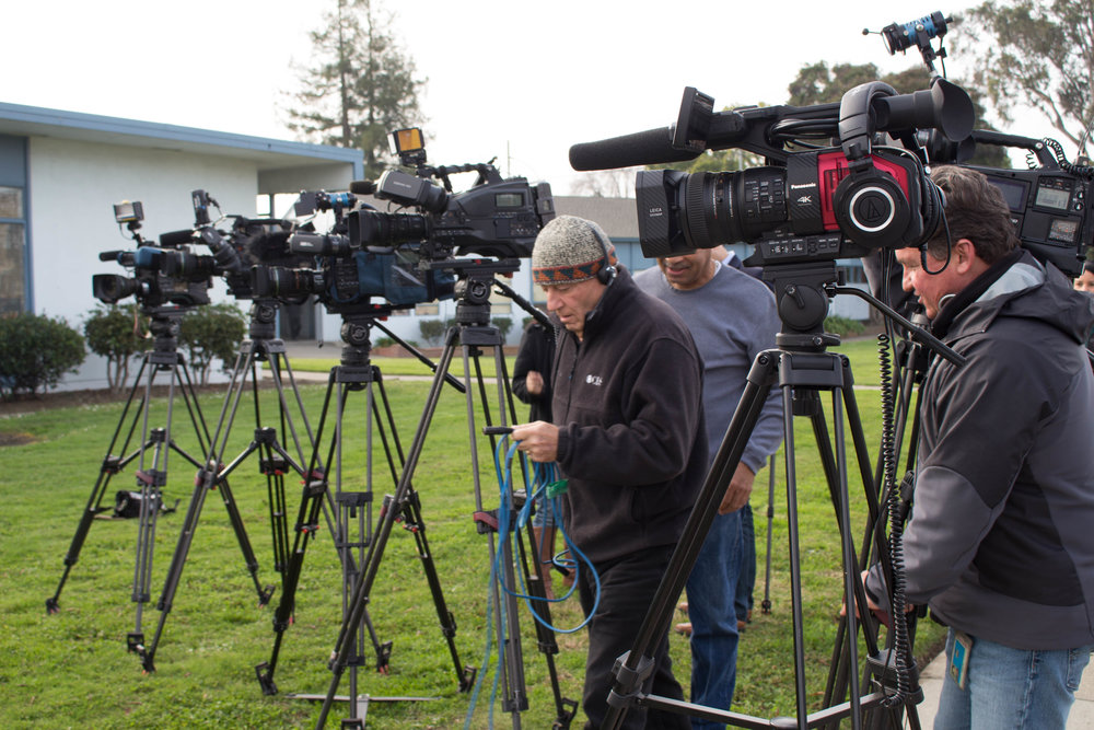 The media showed up strong--- the story was shared across multiple news networks and in the San Jose Mercury.