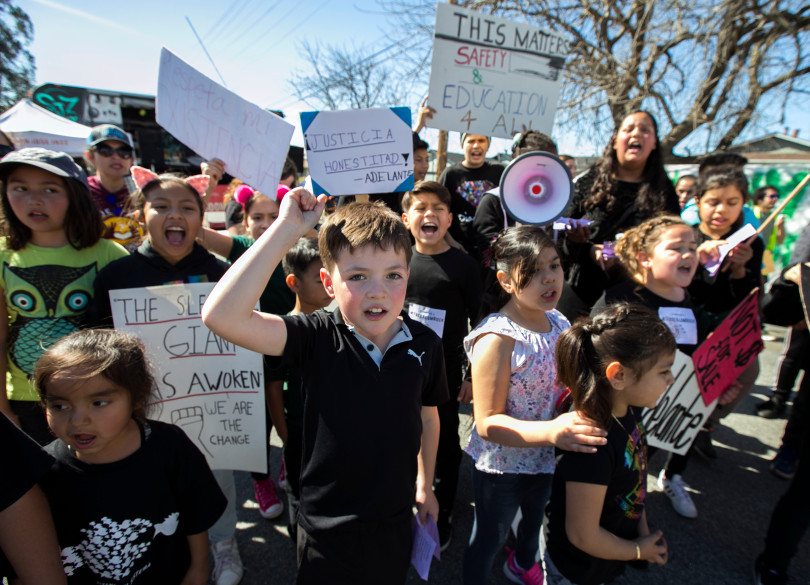 Hundreds of Students Protest Alum Rock School Board - by Emily DeruySan Jose Mercury NewsMarch 8, 2018