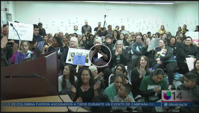 Alum Rock Meeting Suspended - UnivisionJanuary 17, 2018