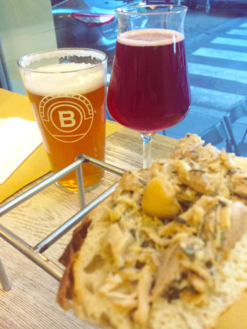 Trappizzino and craft beers at Be.Re in Rome, Italy