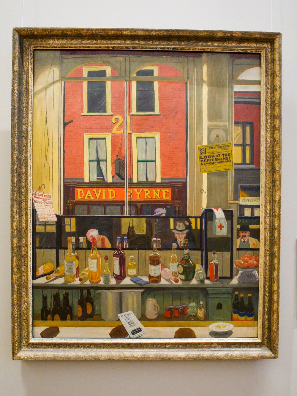 Davy Byrne's Pub, Duke Street, From The Bailey, Dublin (1941) by Harry Kernoff.