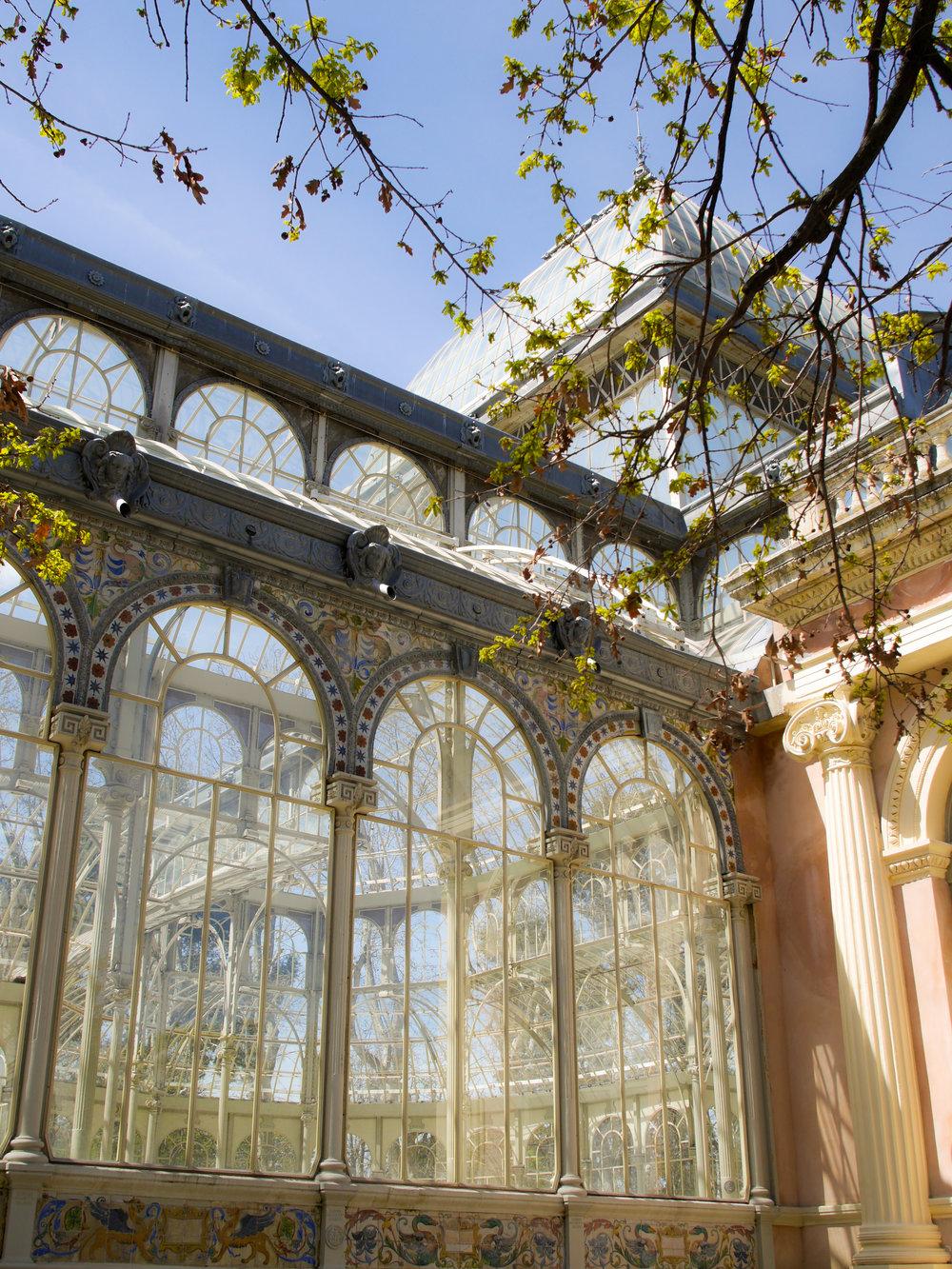 Palacio de Cristal del Retiro in Madrid, Spain