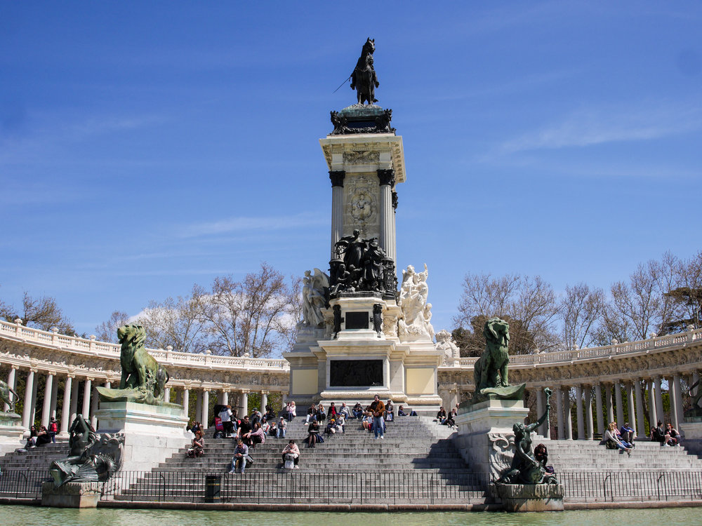 Monument to Alfonso XII in Madrid, Spain