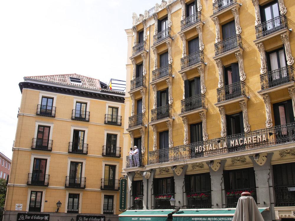 Balconies in Madrid, Spain