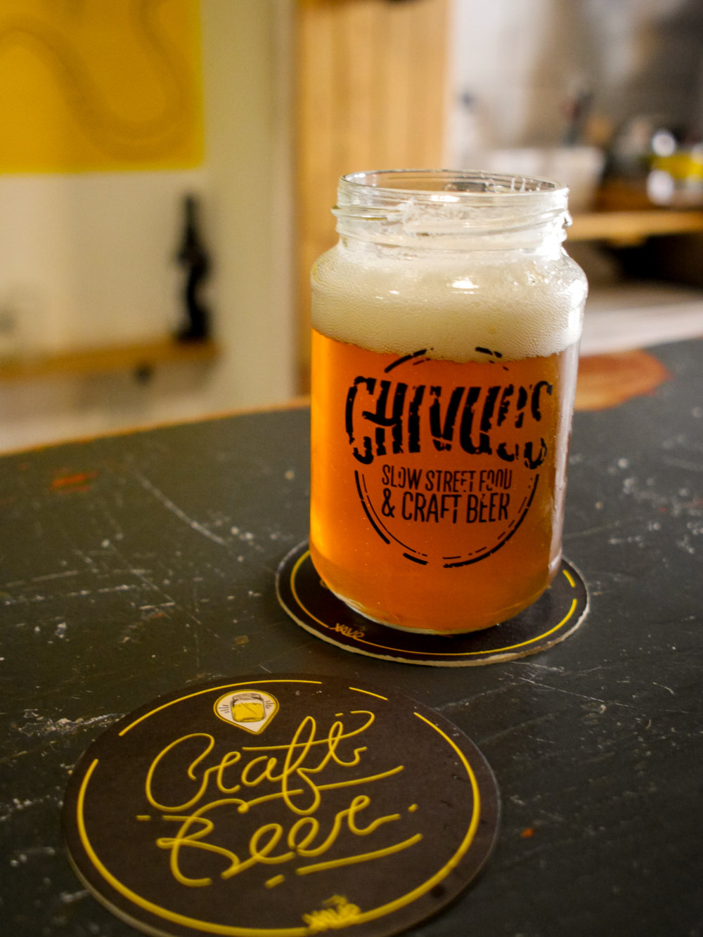 Craft beer at Chivuo's Slow Street Food