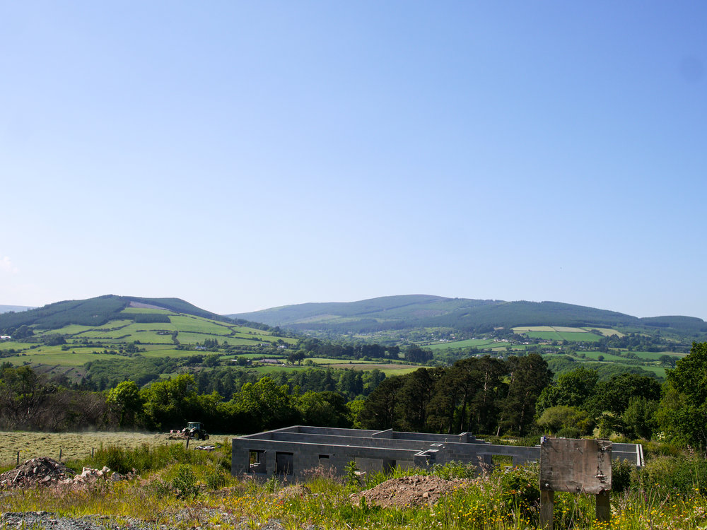View from drive from Enniskerry Village to Johnnie Fox's Pub