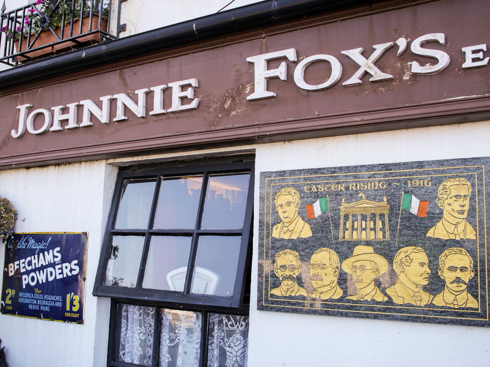 Seven signatories of the Proclamation of the Irish Republic at  Johnnie Fox's Pub