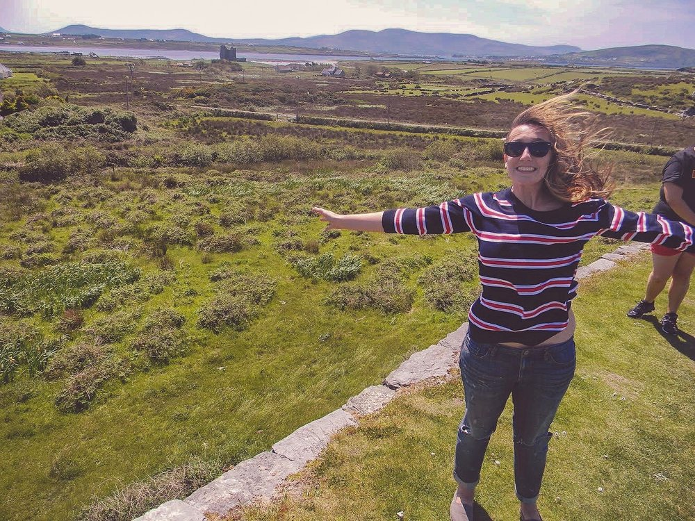 Candid Alexandra in the countryside of Ireland