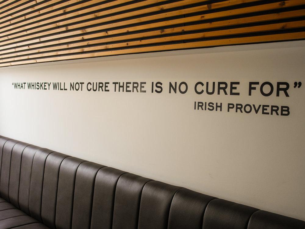 Irish Proverb at Teeling Distillery in Dublin, Ireland
