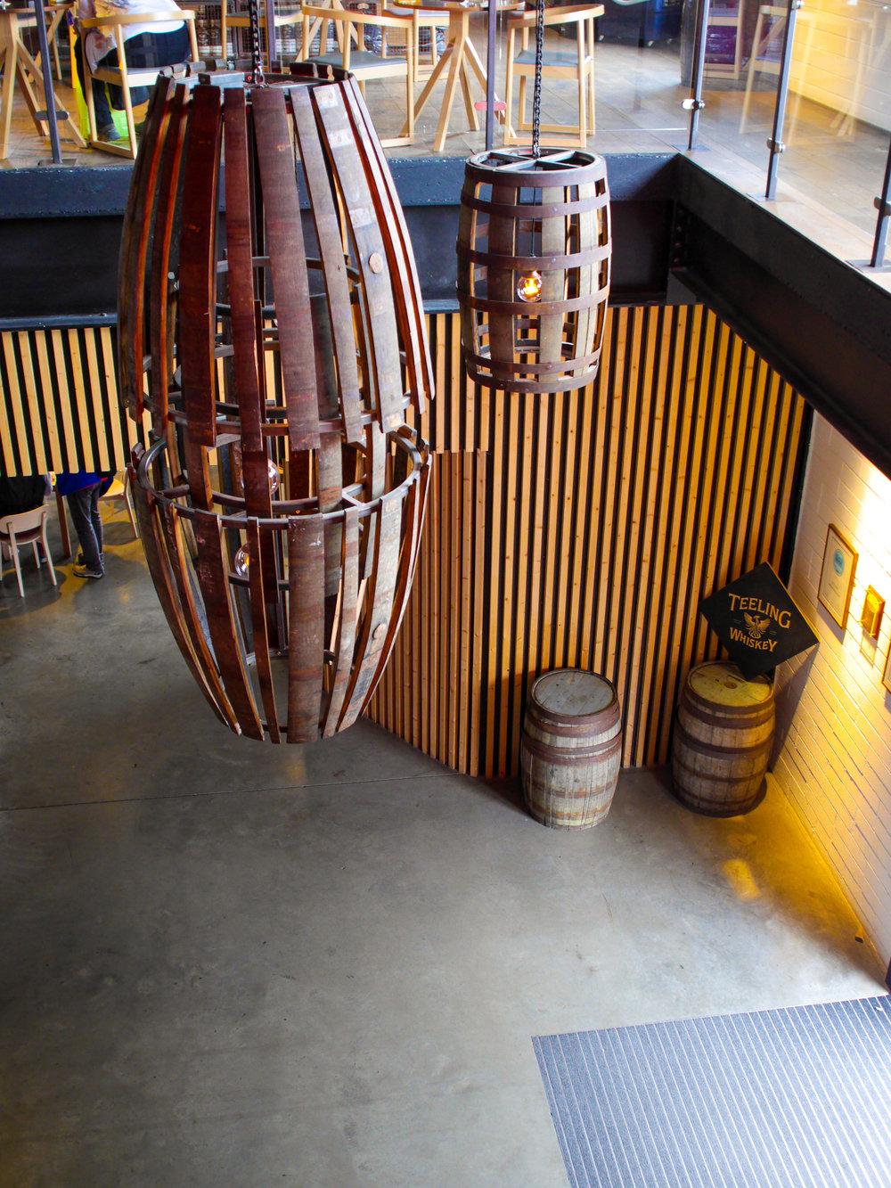 Entryway at Teeling Distillery in Dublin, Ireland