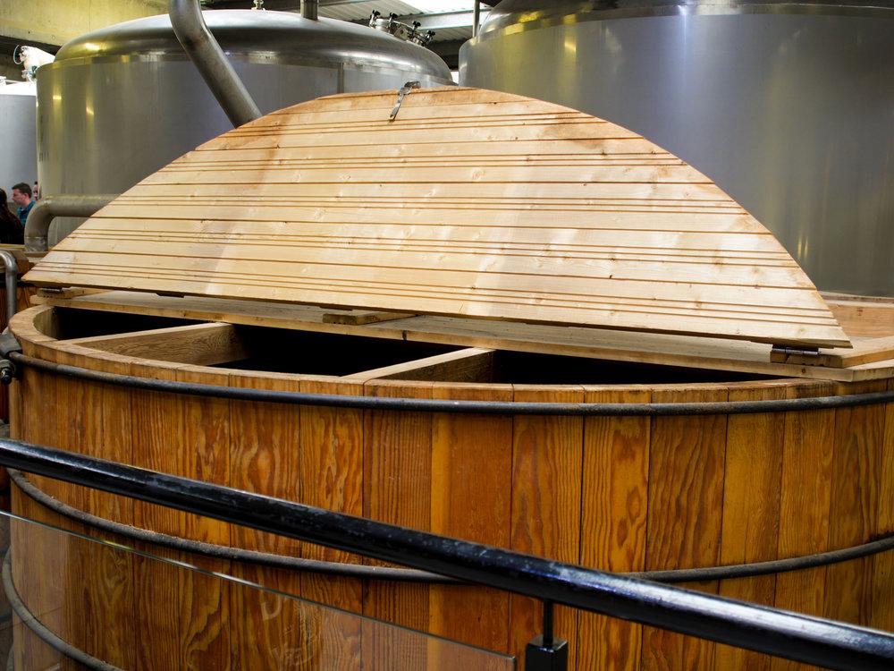 Whiskey fermentation at Teeling Distillery in Dublin, Ireland
