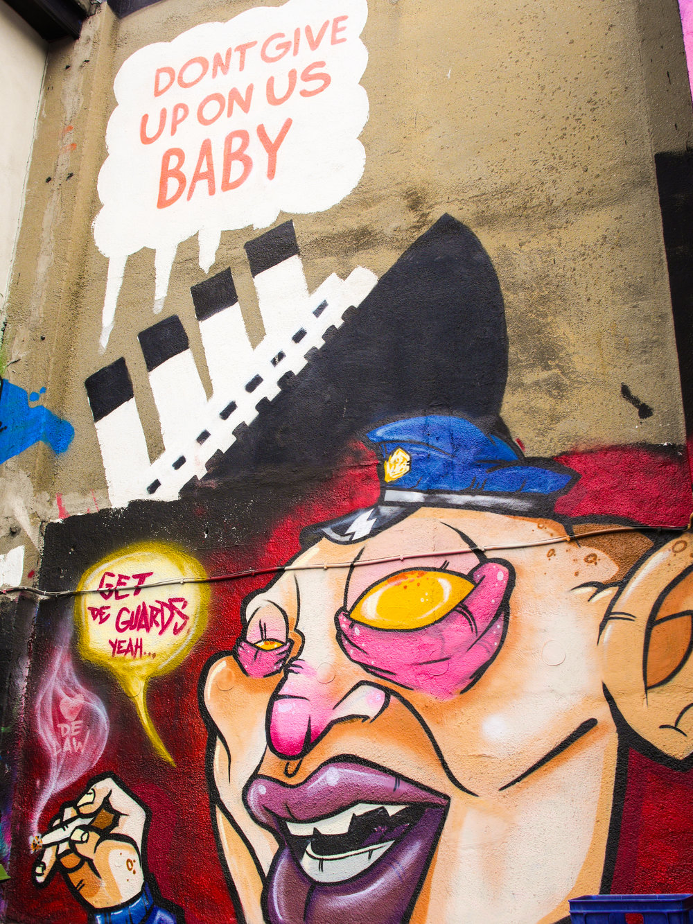 Street art at Tivoli Theatre in Dublin, Ireland
