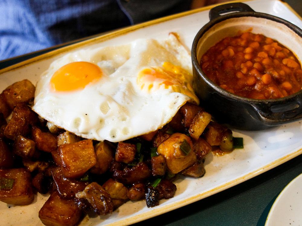 pork belly hash at San Lorenzo's in Dublin, Ireland