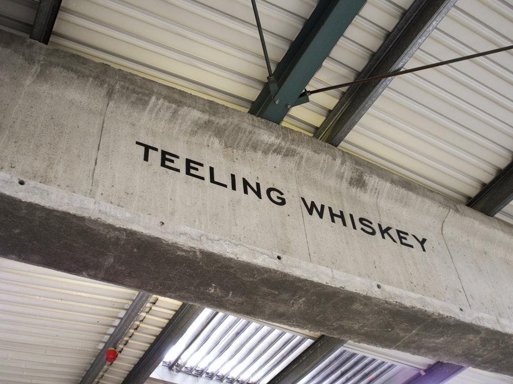 Beam at Teeling Distillery in Dublin, Ireland