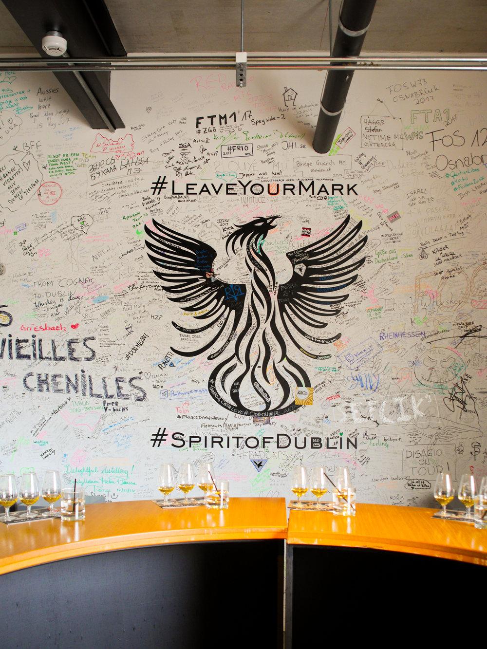 Tasting area Whiskey fermentation at Teeling Distillery in Dublin, Ireland