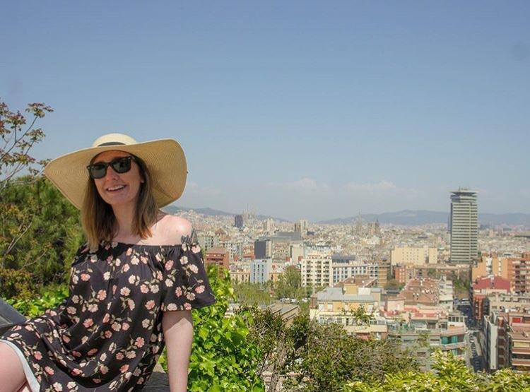 Candid Alexandra in Barcelona, Spain