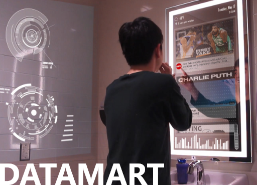 DataMart - How to make a video and use it as a main way presenting design concept.
