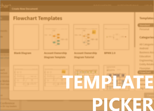 Template Picker - A 2-week group project to redesign the Template Picker of Lucidchart.
