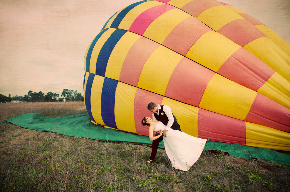 Colorful & Intimate Hot Air Balloon Wedding -