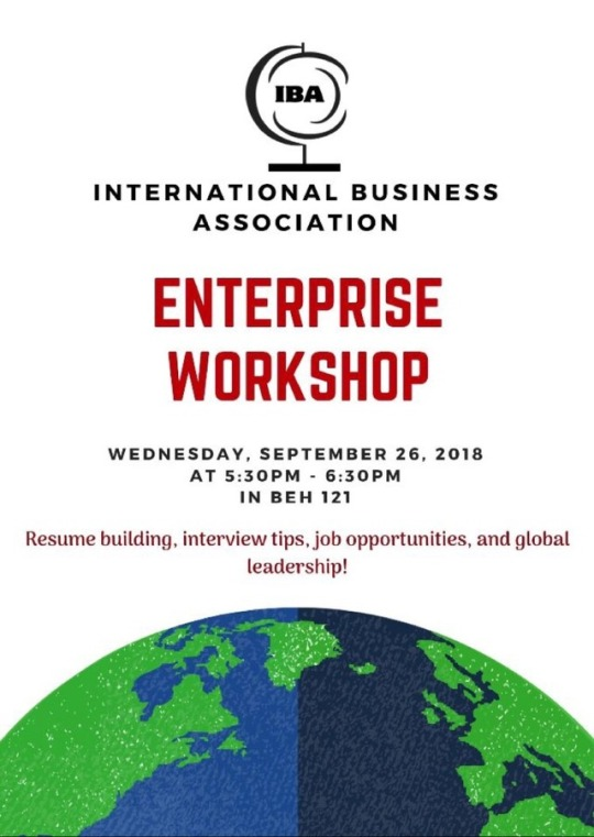 Enterprise Resume Building Workshop International Business