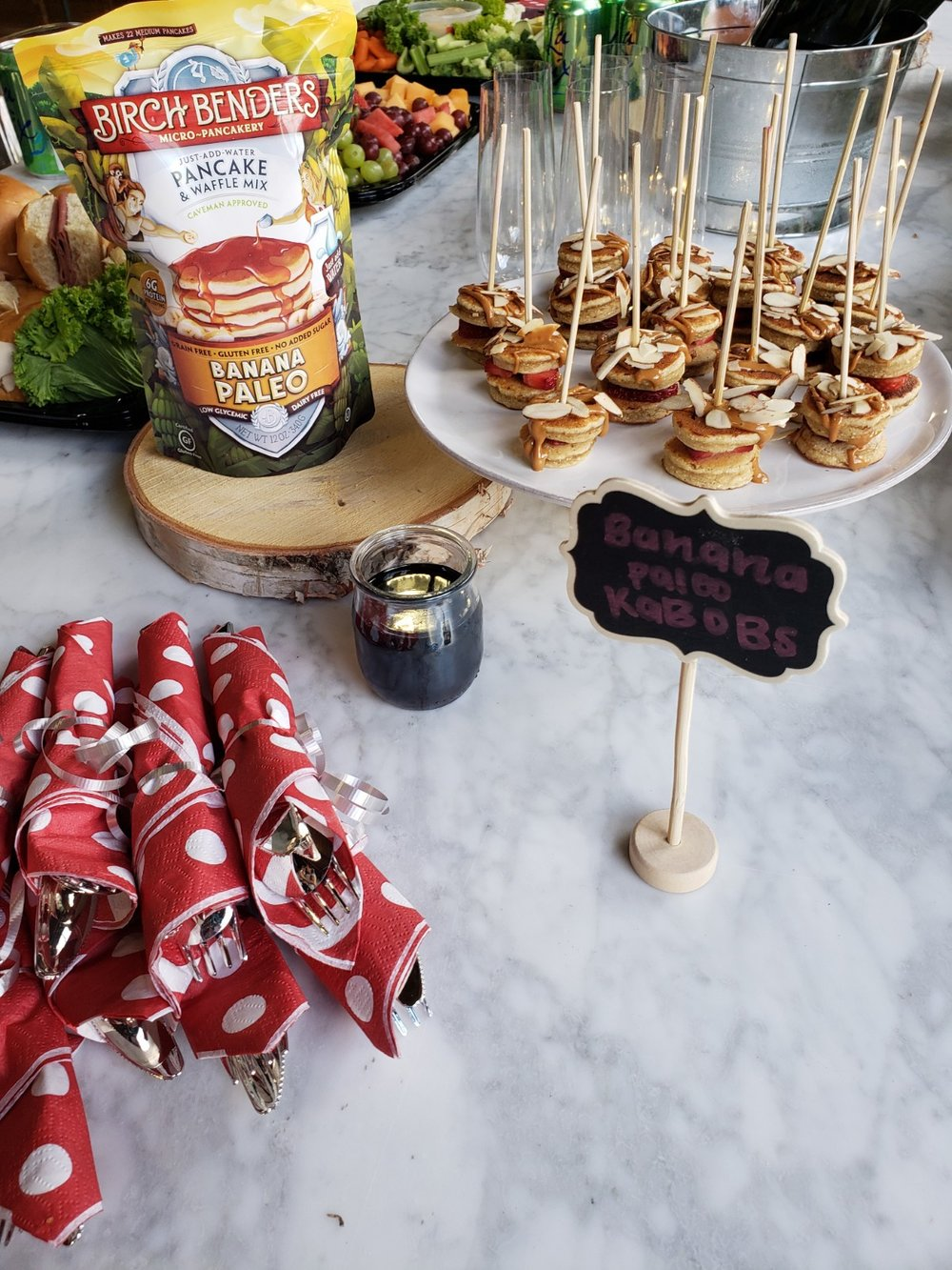 The cutest little pancake kebobs made with wholesome ingredients
