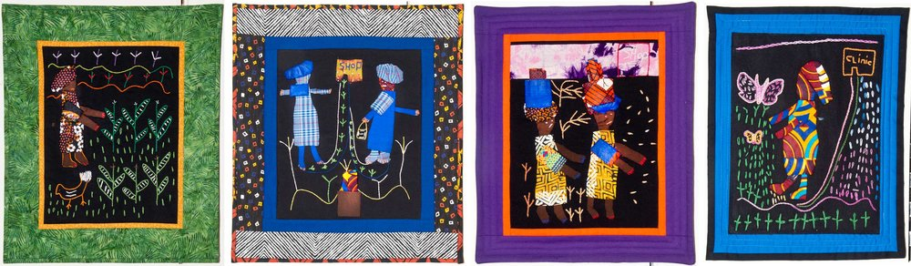 These are  some or our art quilts displayed at Chessman Gallery.