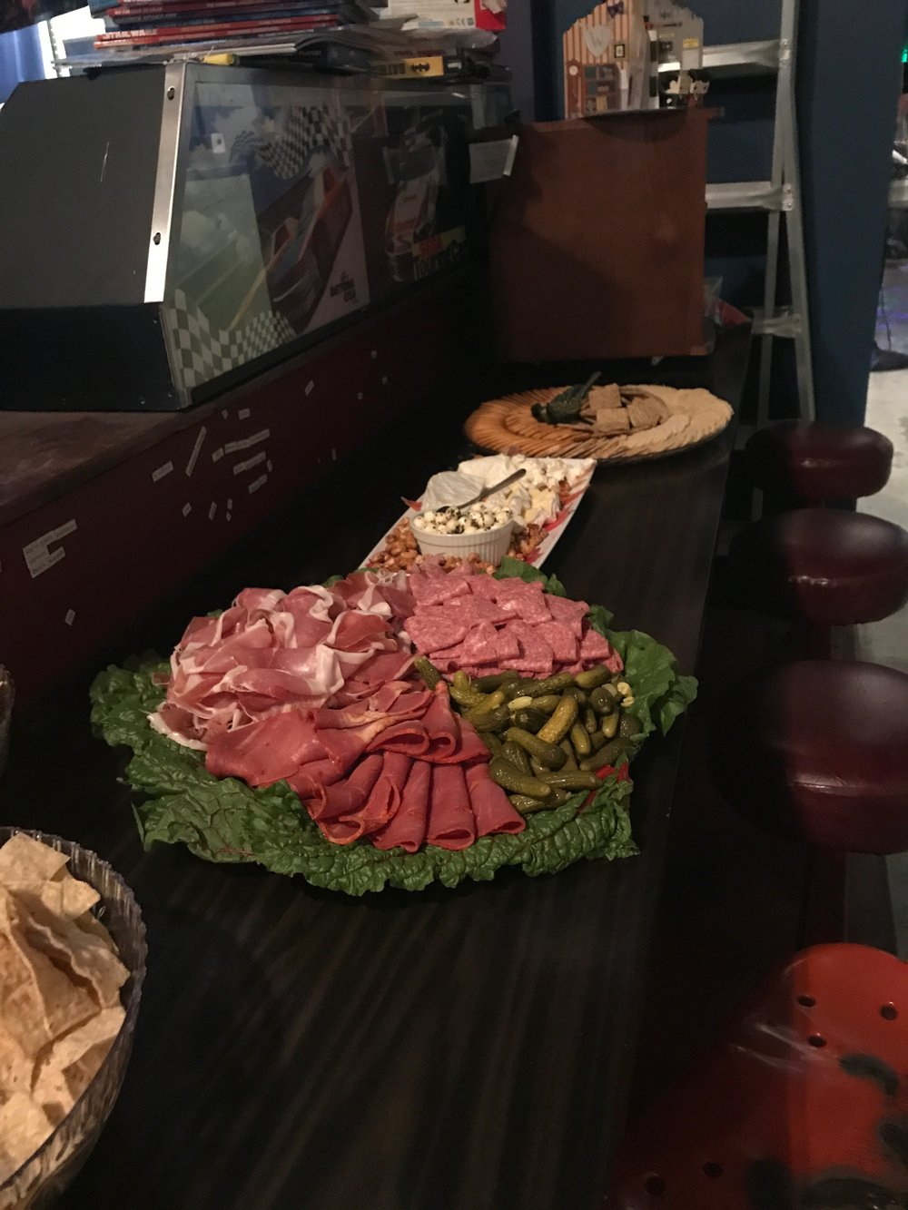 Meat, Cheese, and Cracker platter $80