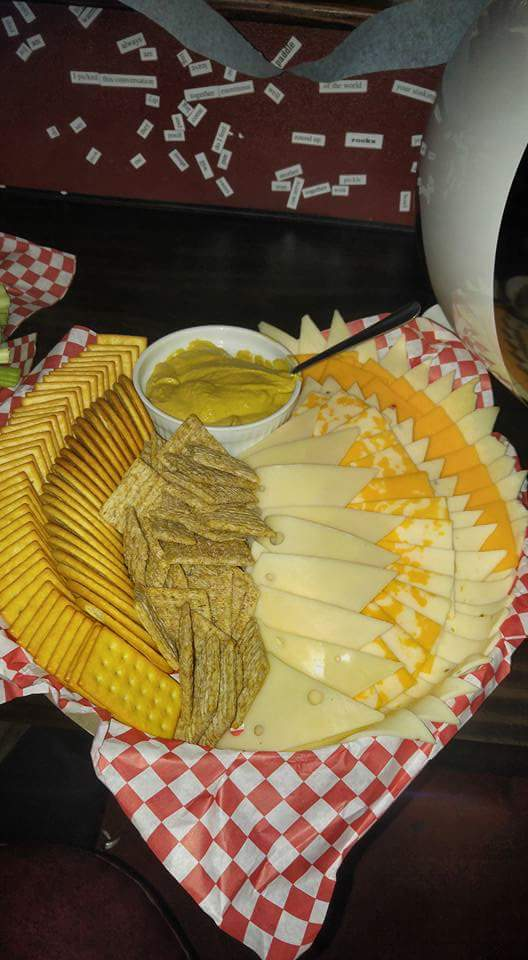 Cheese and Cracker plate that comes with Salmon Platter