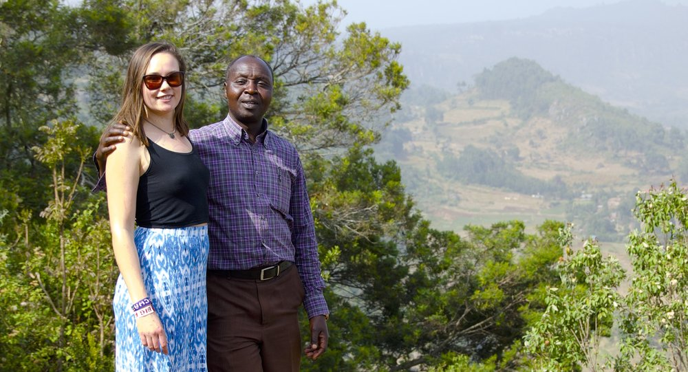 Robert and I stand, looking out over the Rift Valley, discussing the project ahead.