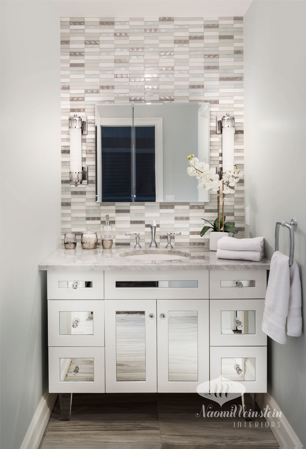 Embellished Vanity Area by  Naomi Weinstein