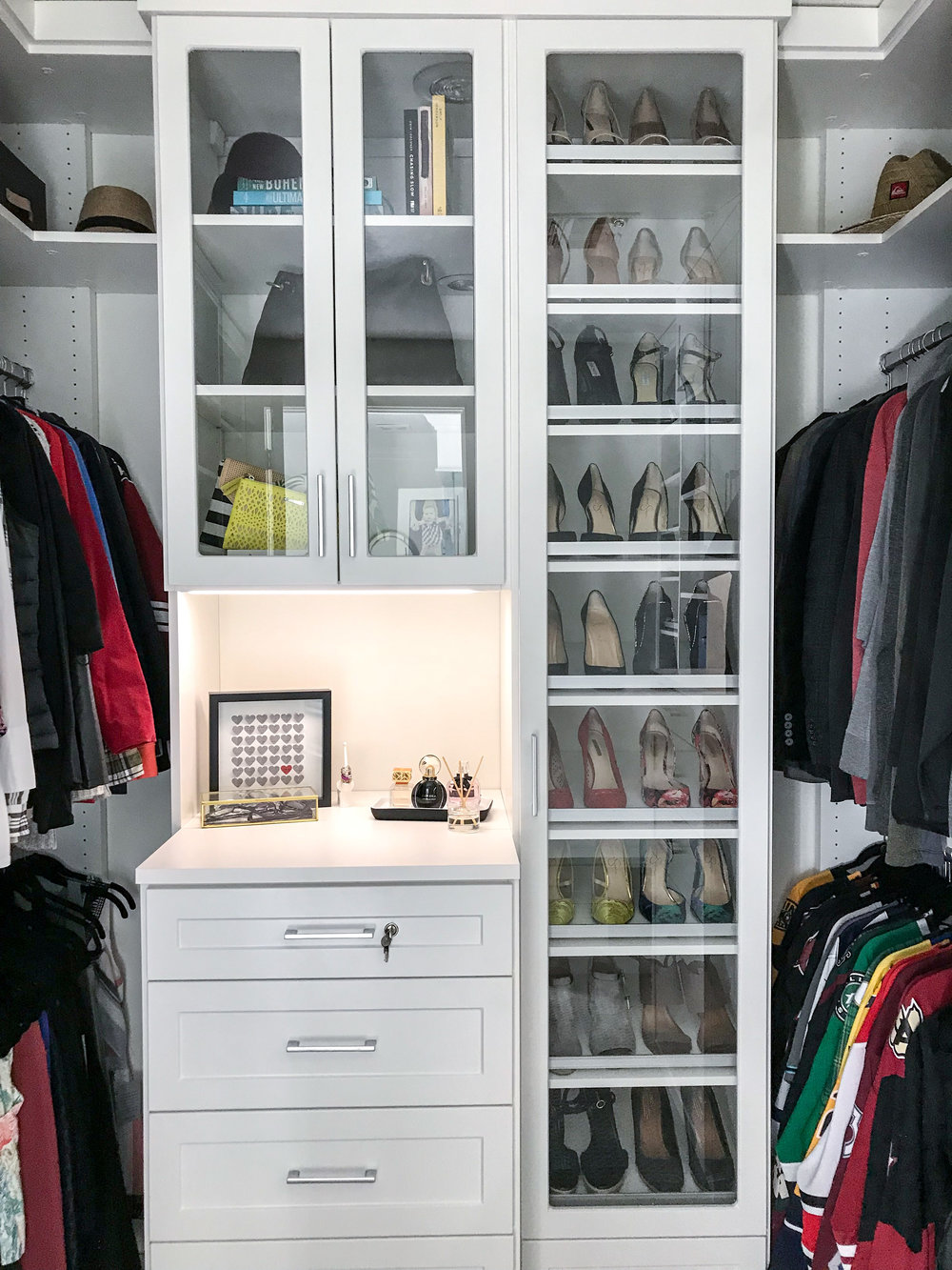 This Master Closet Started As A Very Underwhelming Space For This Stunning  Home. In Working With California Closets And Having A Well Defined Design  Plan, ...