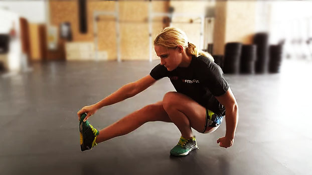 The pistol squat - also called one legged squat