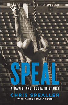 Speal: A David and Goliath Story - by Chris Spealer Chris Spealer is probably the most unlikely Top-CrossFitter on the planet. Weighing less than 70 kilo, he still developed the strength to compete at the CrossFit Games 8 times. He is also the founder of CrossFit Park City, CrossFit HQ staff, creator of the popular training template Icon Athlete and a family father.