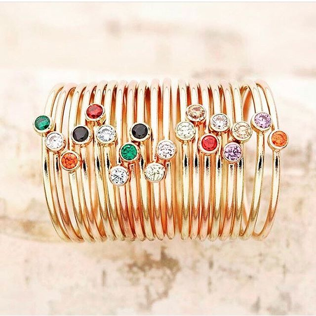Stack these beauties from @jennifertutonjewelry-it's as easy as 1-2-3 #lookgoodfeelgood #jewelry #stackingrings #style #fashion