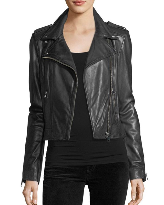 You don't need to ride a Harley to rock this look-dress it up or down #lookgoodfeelgood #style #fashion #styleinspiration #fashioninspiration #leatherjacket #motojacket