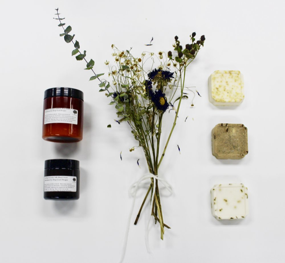 Drop Leaf Designs Body Butters, Soaps and Lip Care