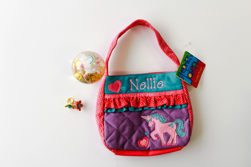Initially Yours  • Unicorn Bouncy Ball, Dress-up Rings, Personalized Purse