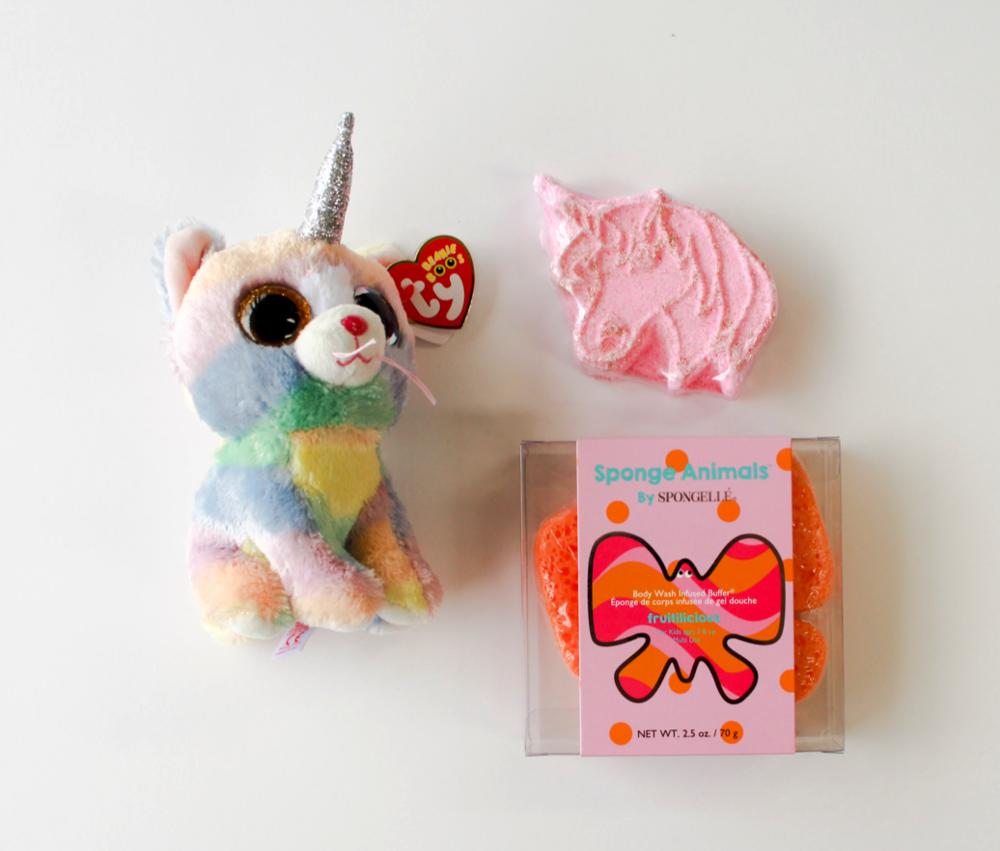Carrie's Hallmark  • TY Unicorn Beanie Boos, Unicorn Bath Bomb, Butterfly Soap Sponge
