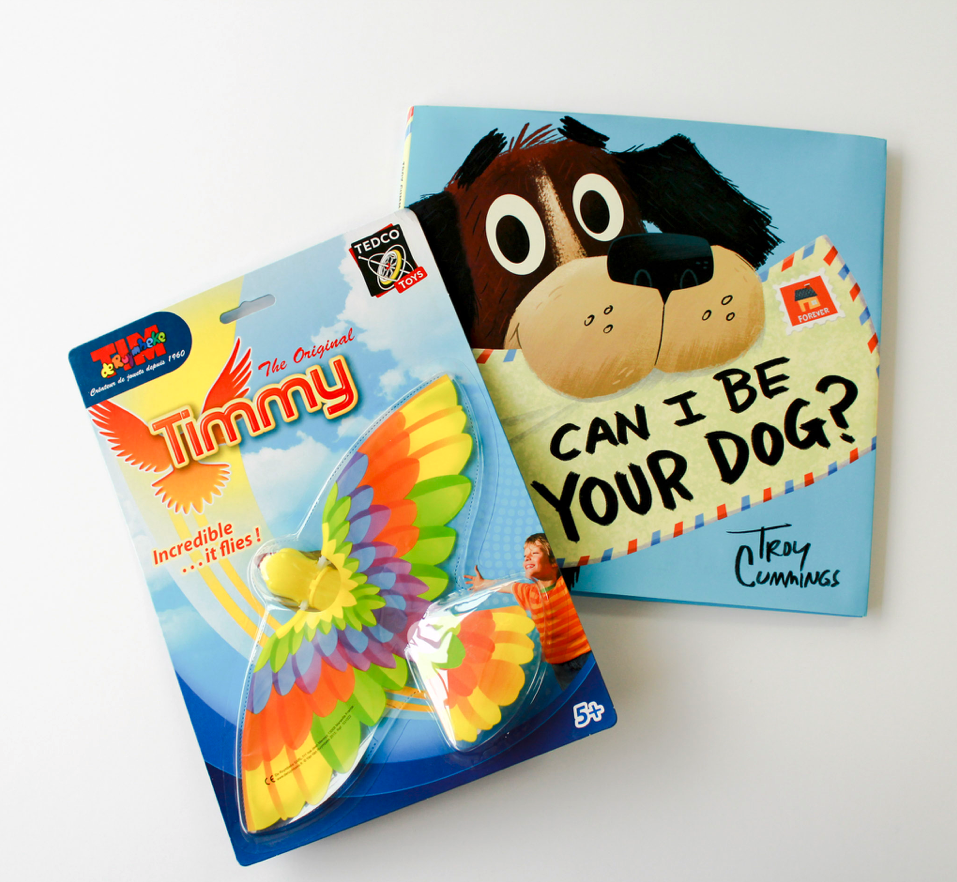 Downtown Book & Toy  • Flying Timmy Bird (no batteries required),  Can I Be Your Dog