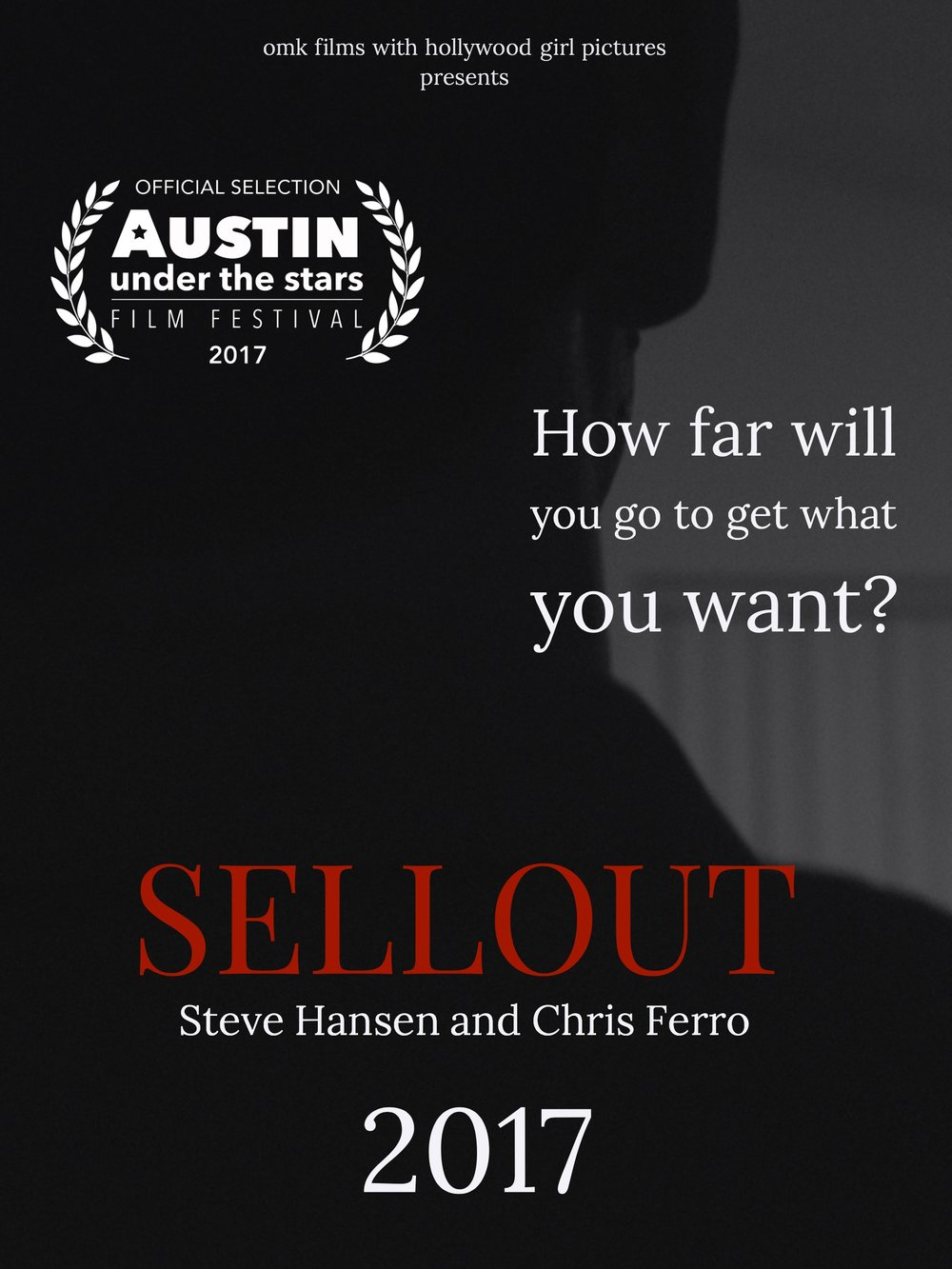 Sellout is an Official Selection at the Austin Under the Stars Film Festival on Oct 21st in Austin TX. It has also been nominated for 'Best Narrative Short', 'Best Actress', and the prestigious 'Wonder Woman' award (Outstanding Female Filmmaker ). - Click below for more information on the festival