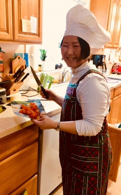 Keiko, the chef -