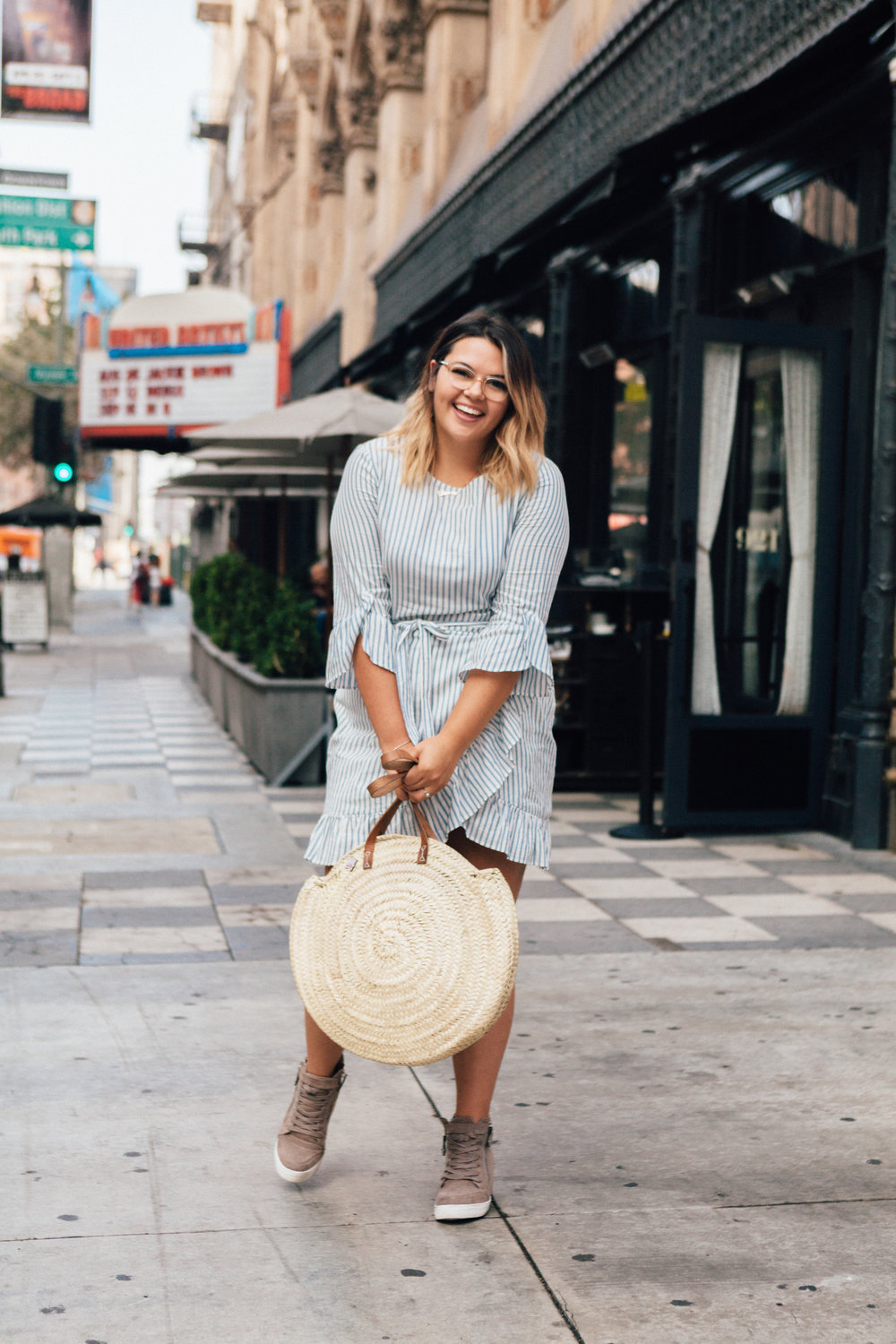 still summer striped dress | the unexpected type