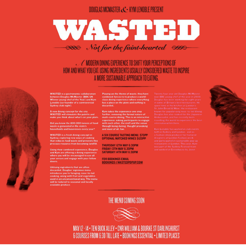 Wasted pop-ups Sydney and Melbourne 2012
