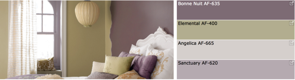 {Soft and peaceful warm neutral color palette for your home, from Sherwin-Williams.}