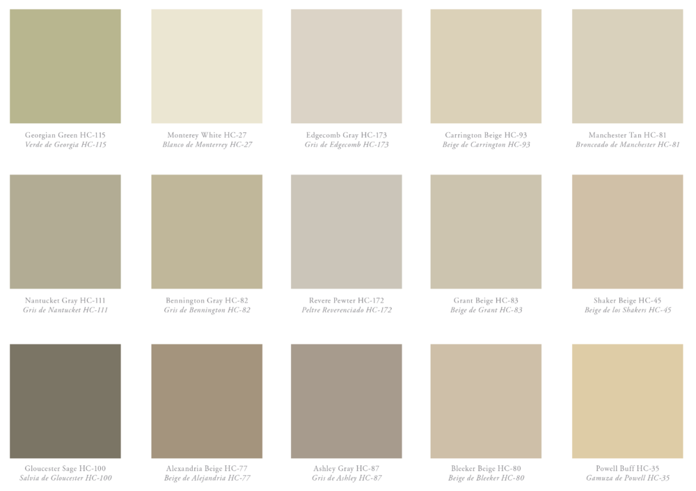 {Warm neutral colors for your home, from Benjamin Moore.}