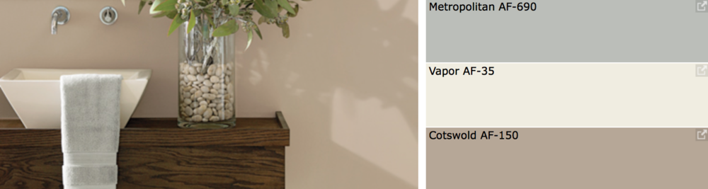 {Soothing warm neutral color palette for your home, from Sherwin-Williams.}