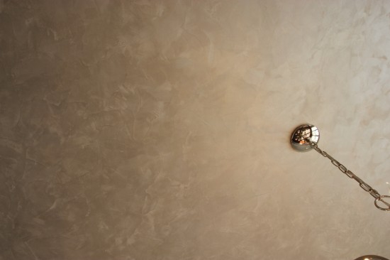 {Close up of ceiling paint treatment by  Deelite Design .}