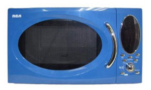 {RCA microwave in blue. Great for a college dorm room.}