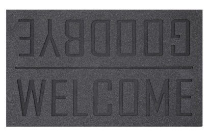 {Clever and simple welcome mat, from  Target }